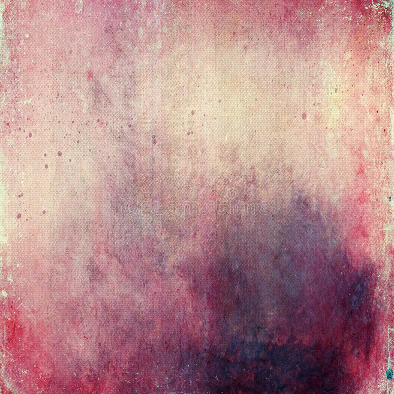 Fundo cor-de-rosa luxuoso do sumário, fundo cinzento branco do quadro vermelho velho da beira da vinheta, projeto da textura do f ilustração stock