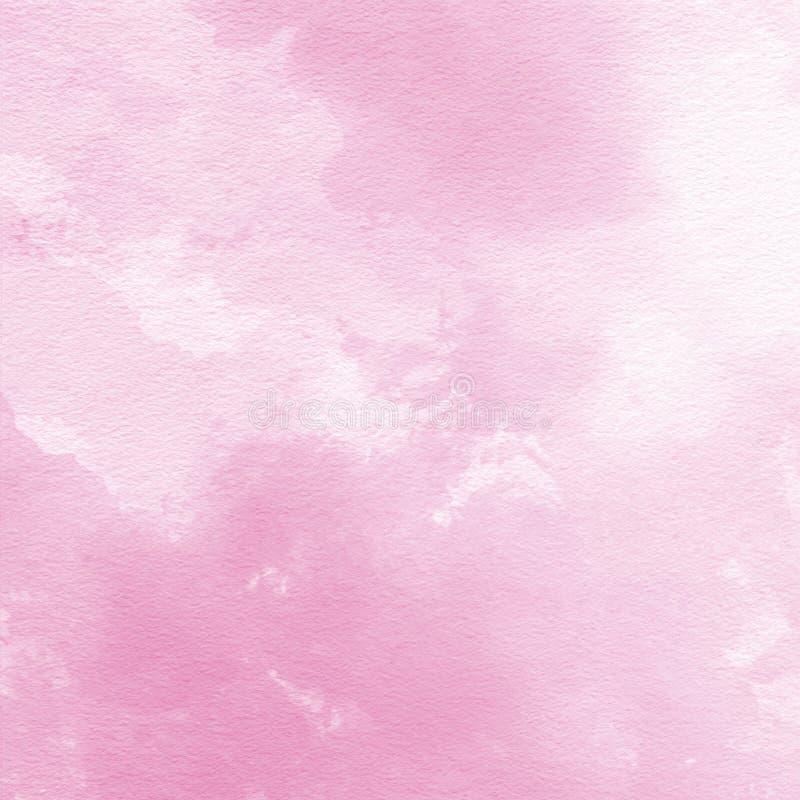 Fundo cor-de-rosa macio da textura da aquarela, pintado à mão ilustração royalty free