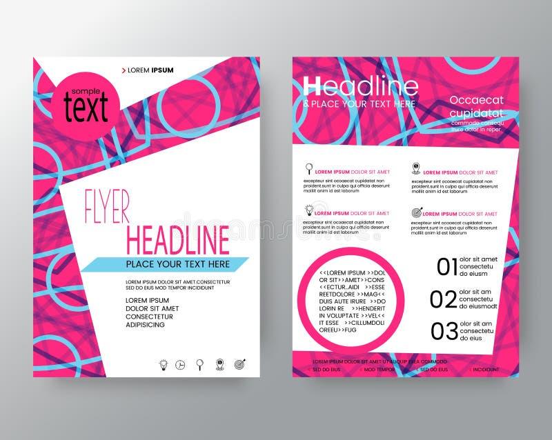 Fundo cor-de-rosa moderno abstrato da forma do círculo para o molde da disposição de projeto do inseto do folheto do cartaz ilustração do vetor