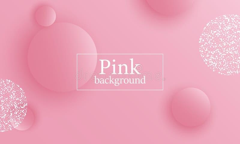 Fundo cor-de-rosa projeto 3D ilustração stock