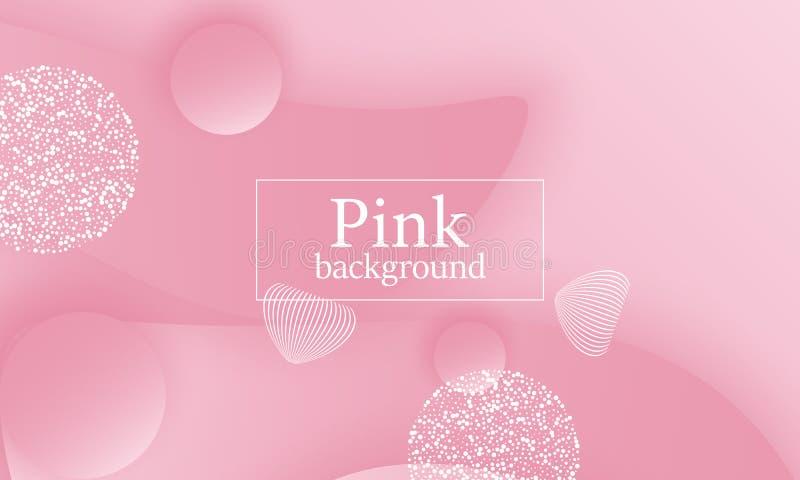Fundo cor-de-rosa projeto 3D ilustração do vetor