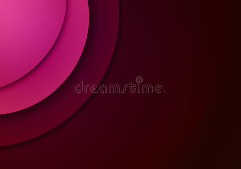 fundo Cor-de-rosa-vermelho com projetos da forma circular ilustração royalty free