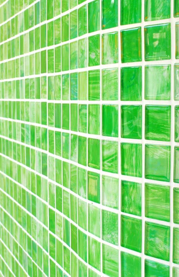 Fundo, cor verde, tijolo de vidro. fotos de stock royalty free