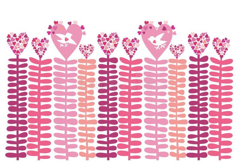 Fundo Coração-floral do amor, vetor. fotografia de stock