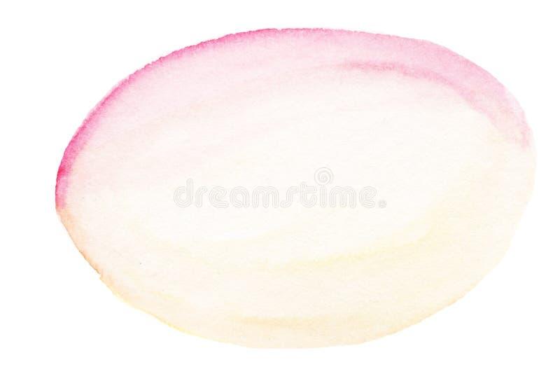 Fundo coral da aquarela para seu projeto Brandamente rosa e yello ilustração stock