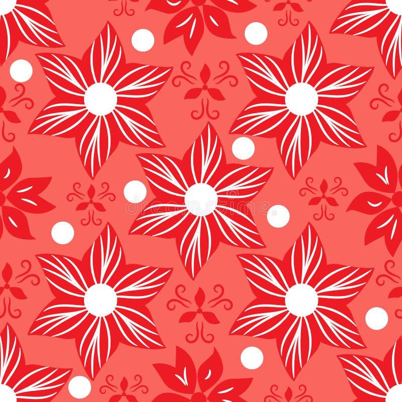 Fundo coral floral sem emenda ilustração royalty free