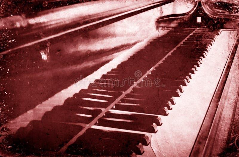 Fundo coral musical da cor do piano do Grunge e textura adicionada do papel imagens de stock royalty free