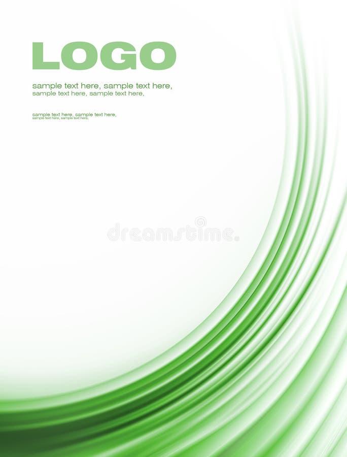 Fundo corporativo verde ilustração stock