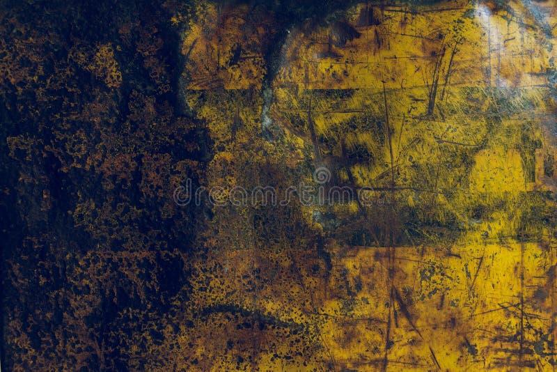 Fundo corroído oxidado da textura do metal fotos de stock