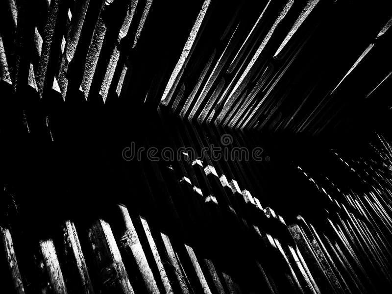 Fundo cortado de bambu da textura do teste padrão imagem de stock
