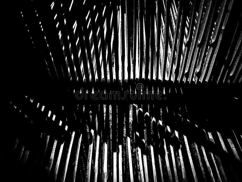 Fundo cortado de bambu da textura do teste padrão foto de stock royalty free