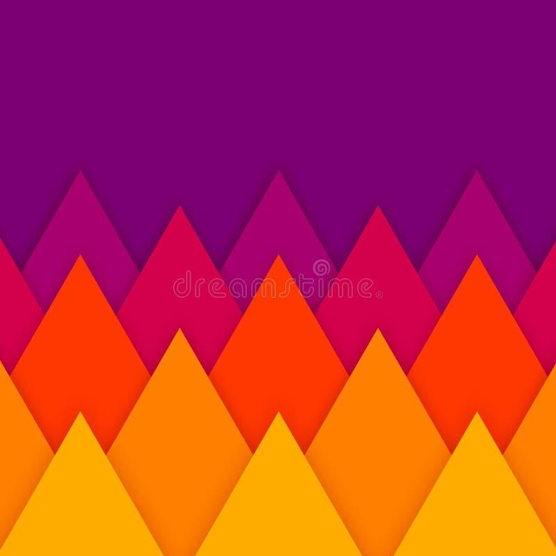Fundo cortado de papel geométrico do sumário do vetor ilustração royalty free