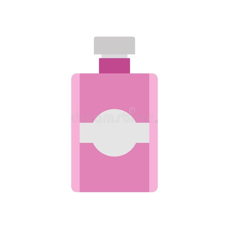 Fundo cosmético do projeto da ilustração do vetor da garrafa de perfume isolado Ícone de vidro da forma da beleza da fragrância d ilustração stock