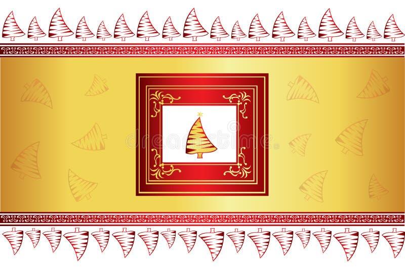 Fundo creativo bonito do Natal ilustração stock