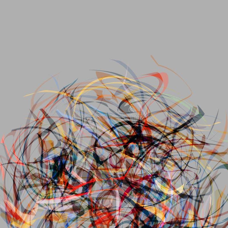 Fundo creativo colorido abstrato ilustração stock