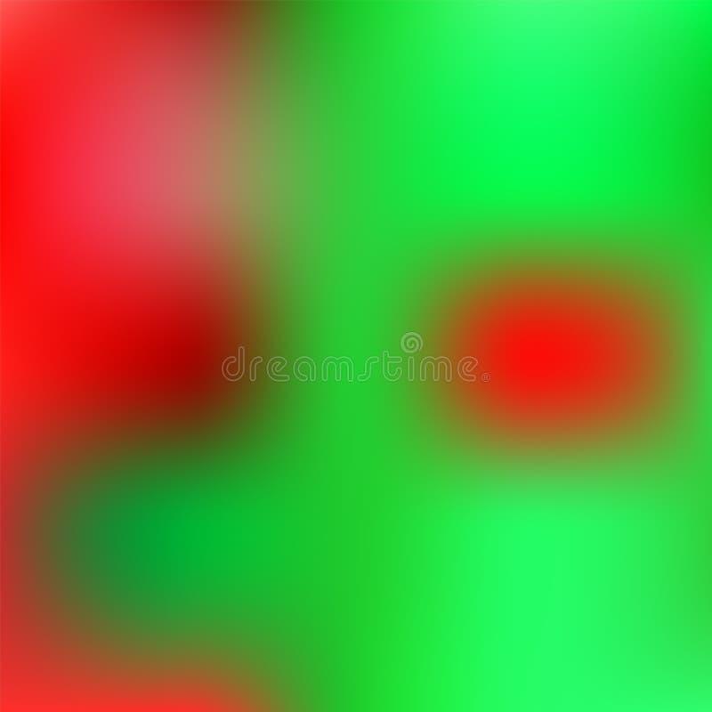 Fundo creativo Contexto borrado do verde Defocused e da cor vermelha ilustração royalty free