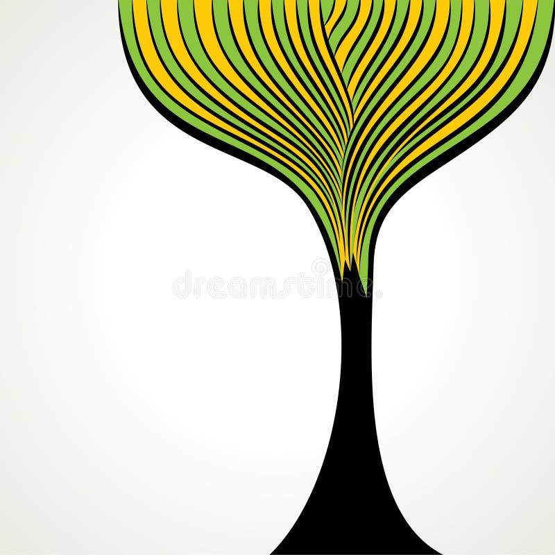 Fundo creativo da árvore da tira ilustração royalty free