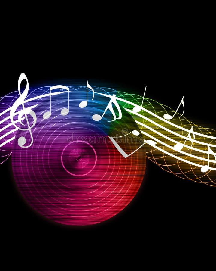 Fundo creativo da música ilustração stock