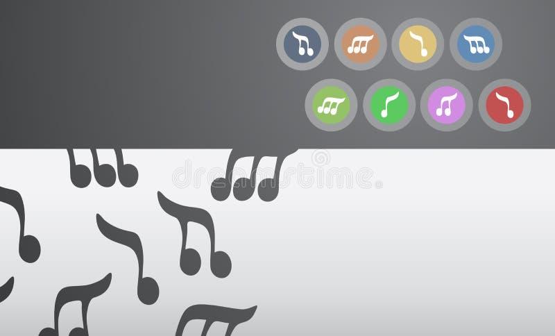Fundo creativo da música da cor ilustração royalty free