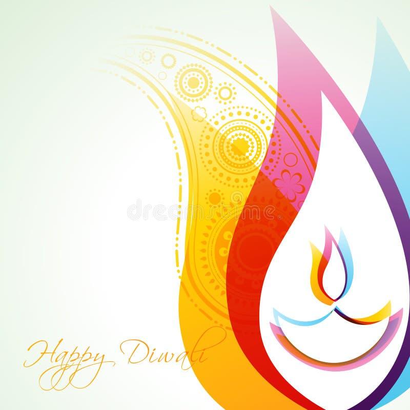 Fundo creativo do diwali ilustração stock
