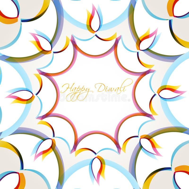 Fundo creativo do diwali ilustração royalty free