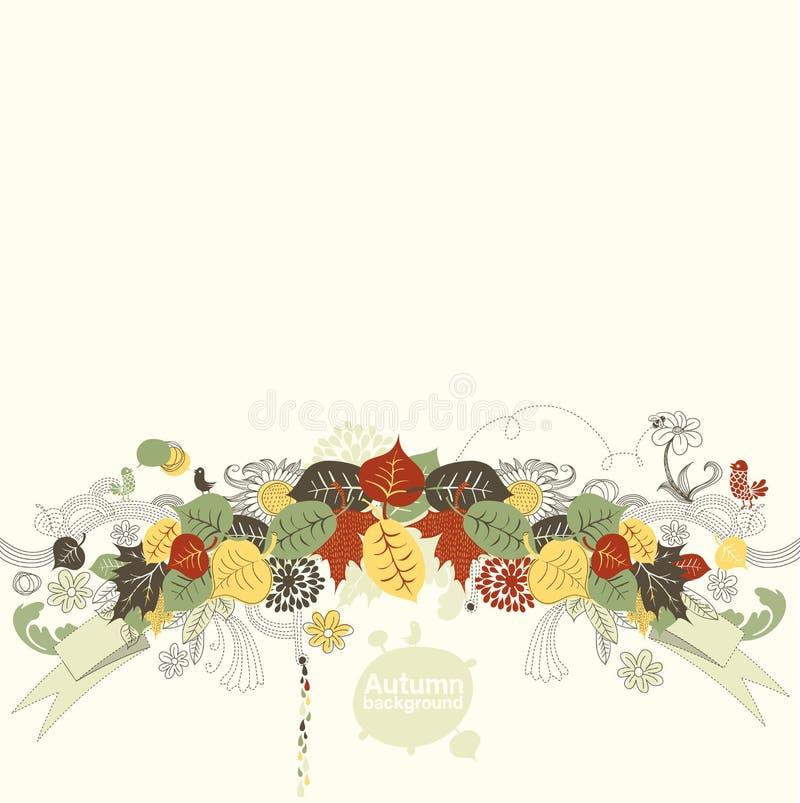 Fundo creativo do outono ilustração stock