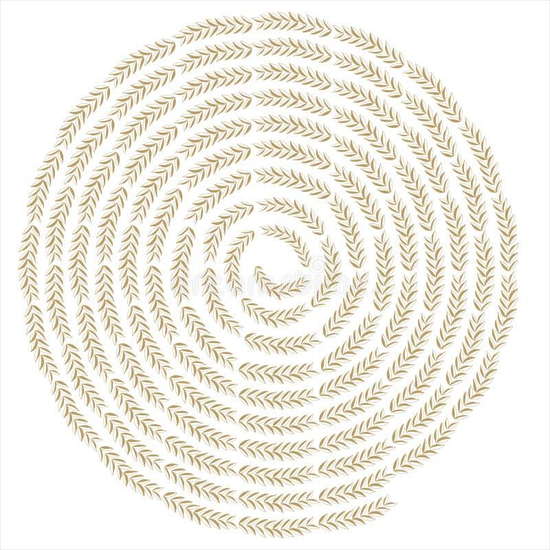 Fundo creativo do redemoinho do trigo ilustração royalty free