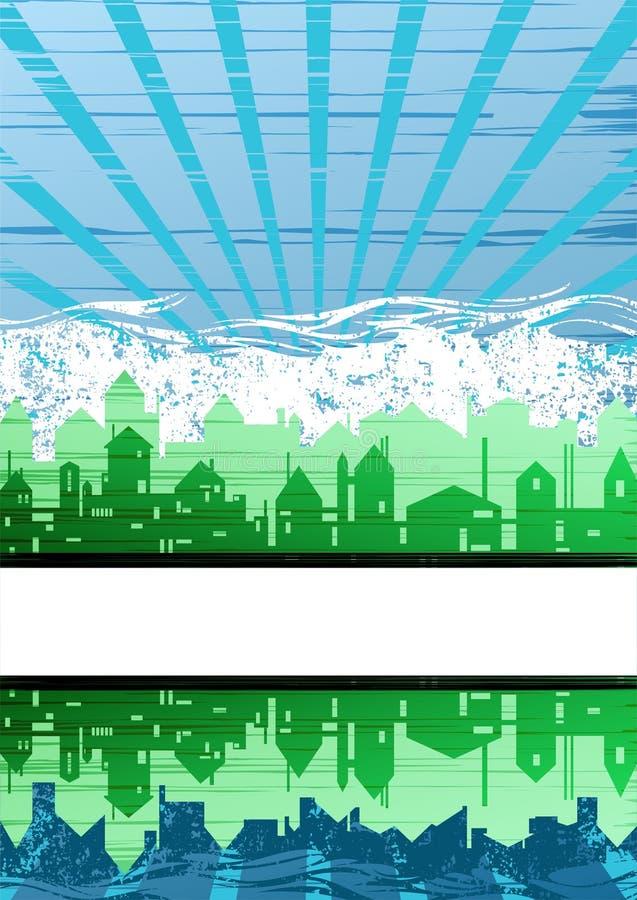 Fundo creativo do tema da cidade ilustração do vetor