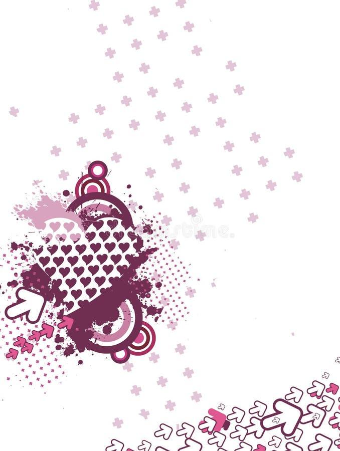 Fundo creativo do Valentim ilustração do vetor
