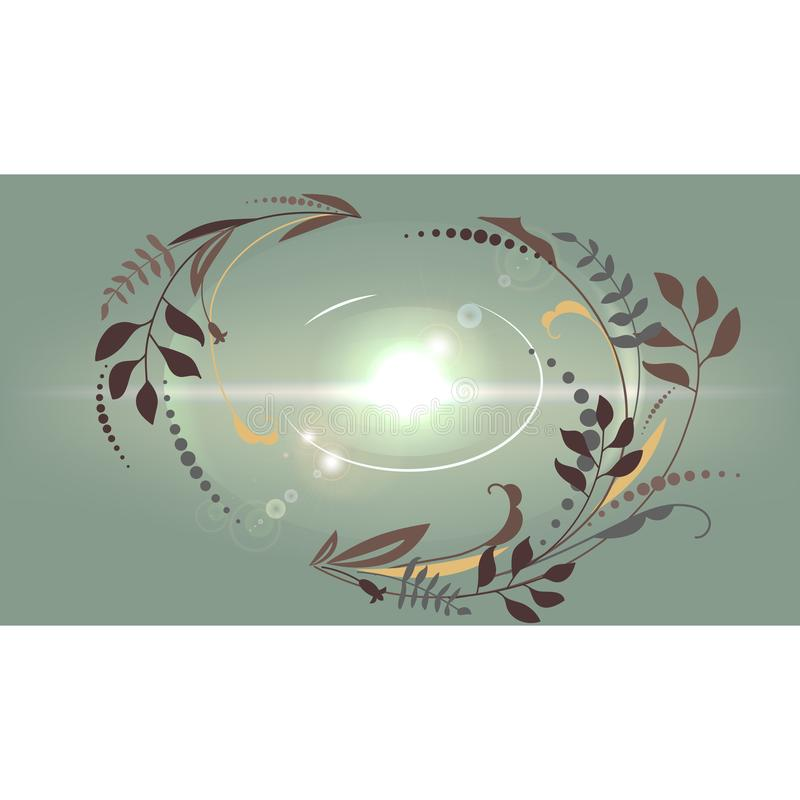 Fundo crescente abstrato bonito Uma janela ao mundo ilustração stock