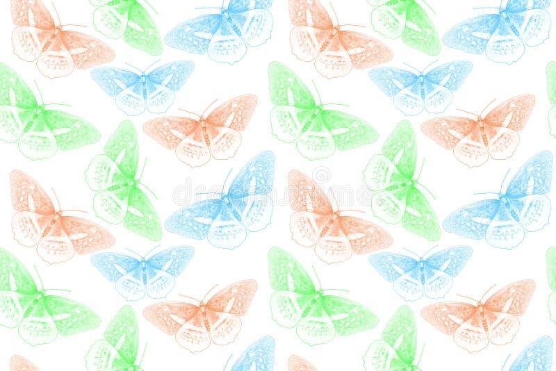 Fundo criado da borboleta ilustração royalty free