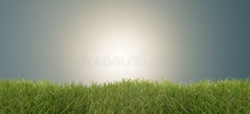 Fundo criativo abstrato claro brilhante vibrante 3d-illustration do sucesso da grama verde ilustração royalty free