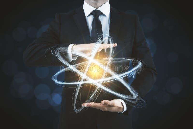 Fundo criativo do átomo imagens de stock royalty free