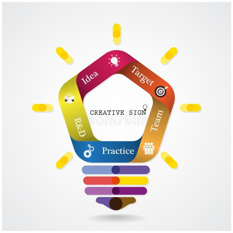 Fundo criativo do conceito da ideia da ampola do infographics ilustração royalty free