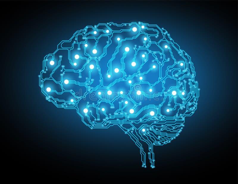 Fundo criativo do conceito do cérebro ilustração royalty free