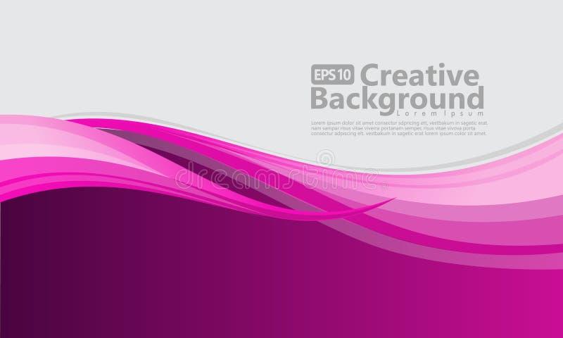 Fundo criativo do estilo abstrato novo da onda ilustração stock