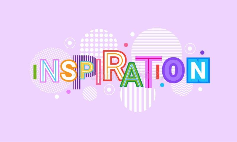 Fundo criativo do molde do sumário da bandeira da Web da inspiração e da motivação ilustração do vetor