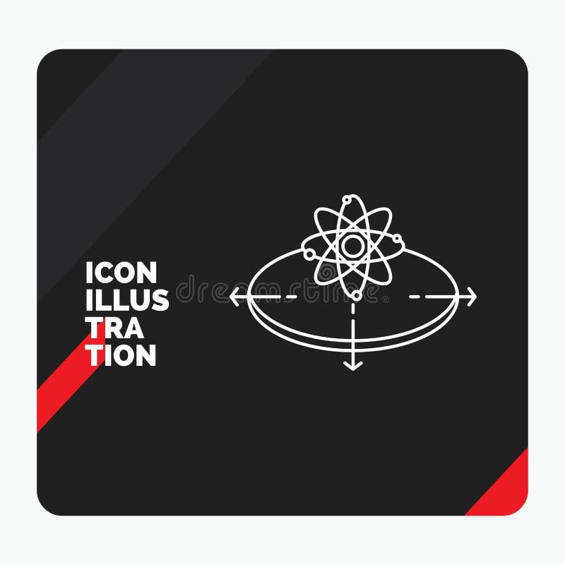 Fundo criativo vermelho e preto da apresentação para o negócio, conceito, ideia, inovação, linha de luz ícone ilustração do vetor