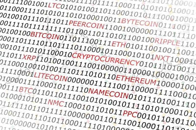 Fundo cripto da moeda imagem de stock