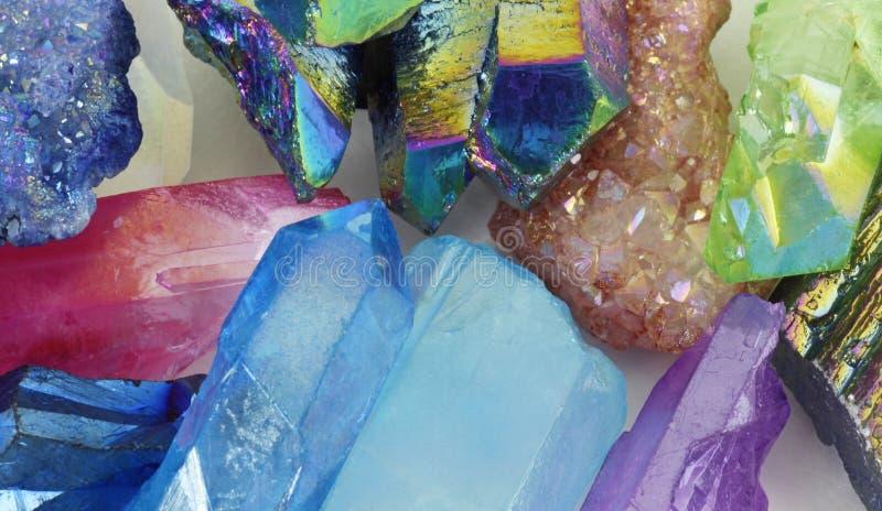 Fundo cura vibrante bonito dos cristais fotos de stock