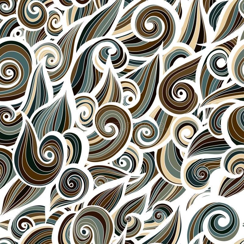 Fundo curlypattern militar da camuflagem ilustração royalty free