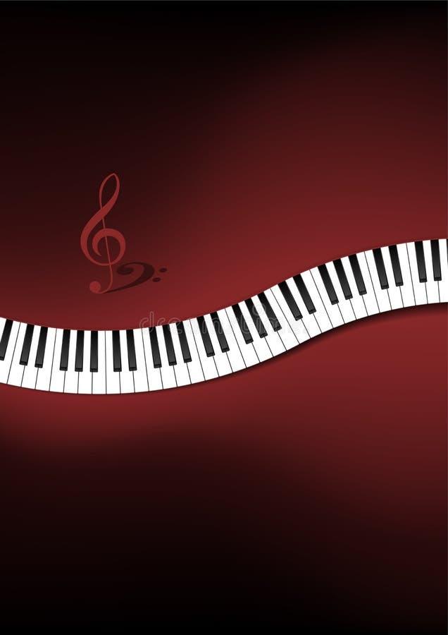 Fundo curvado do teclado de piano ilustração stock