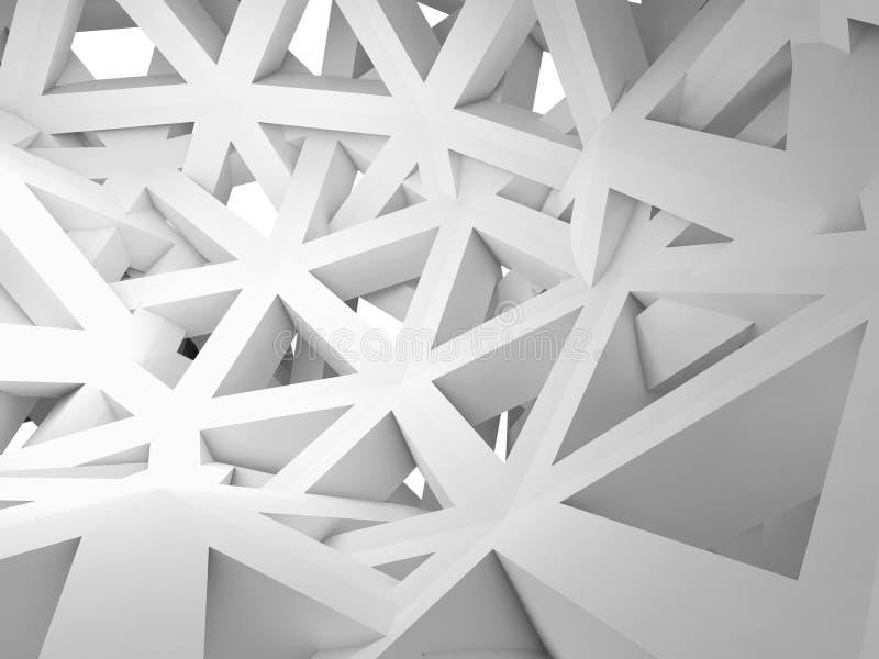 Fundo 3d abstrato com construção caótica ilustração do vetor