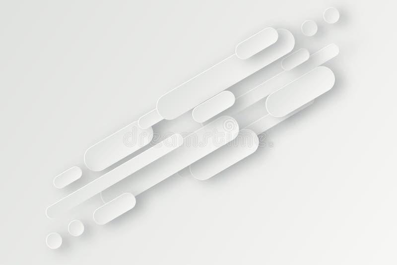 Fundo 3d abstrato com formas geométricas do Livro Branco ilustração stock