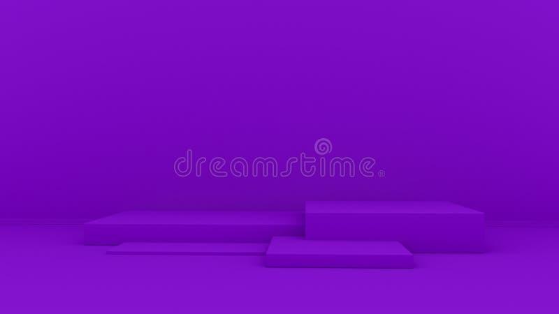 fundo 3d abstrato para render Plataforma cor-de-rosa para a exposição do produto Lugar interior do pódio Molde vazio da decoração imagem de stock royalty free