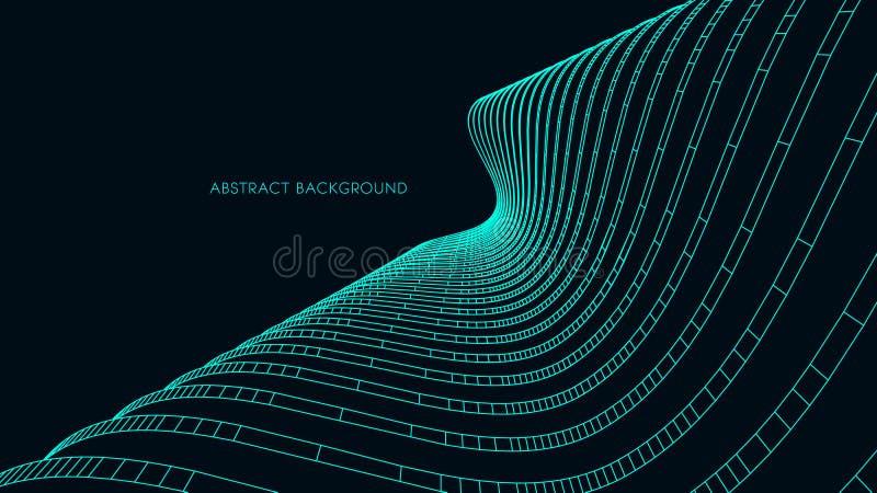 fundo 3d arquitectónico ilustração abstrata do vetor projeto 3D futurista abstrato para a apresentação do negócio ilustração stock