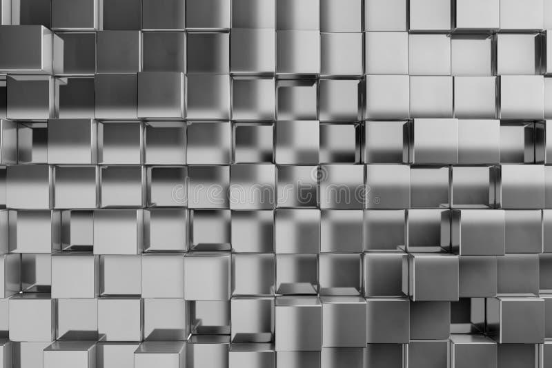 fundo 3D dos cubos da textura ilustração stock
