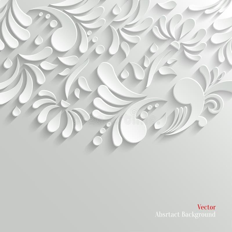 Fundo 3d floral abstrato ilustração stock