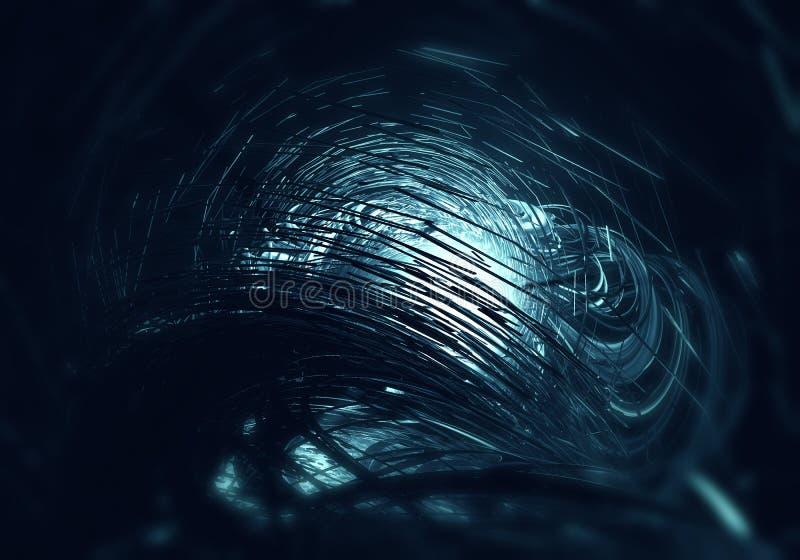 fundo 3D futurista ilustração do vetor