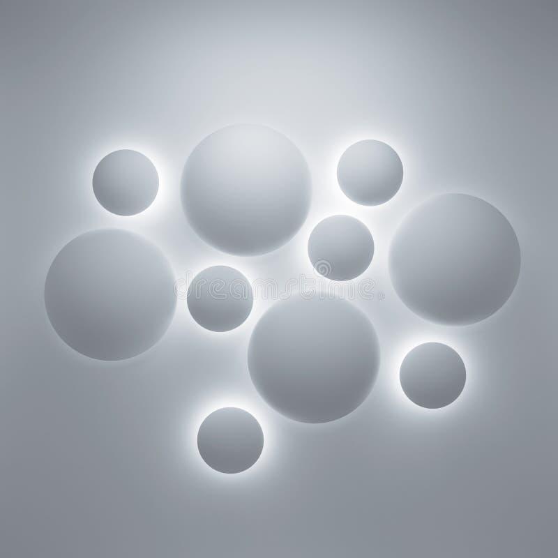 Fundo 3d geométrico abstrato ilustração royalty free